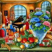La pianiste aux hortensias