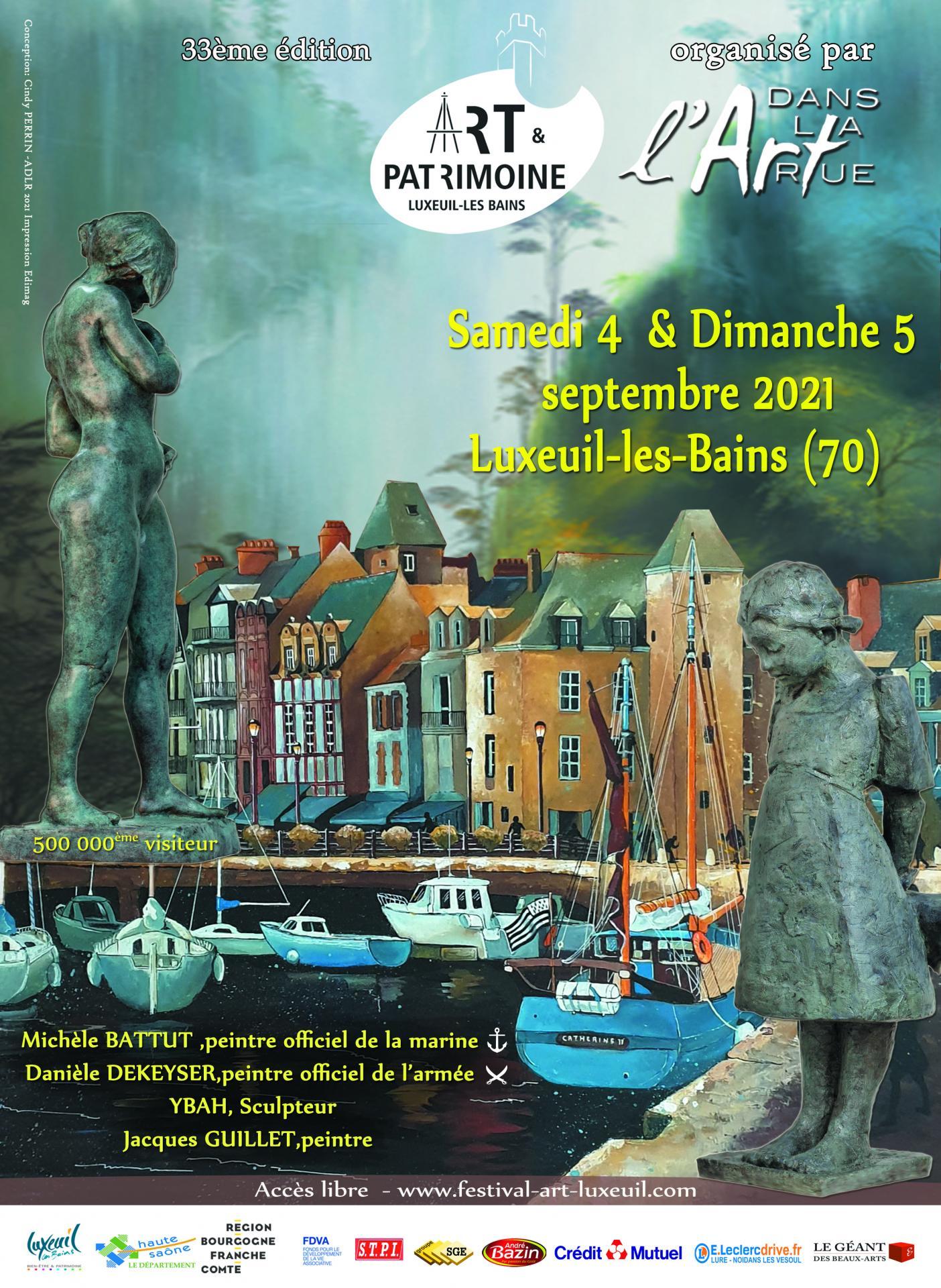 Invité d'honneur Salon Art et Patrimoine 2021 Luxeuil-les-Bains Hte-Saône
