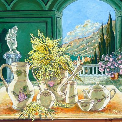 Porcelaines aux mimosas